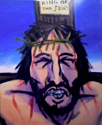"AMOKArts.com Worship Painting Jesus Christ Crucified ""Father Forgive Them"""