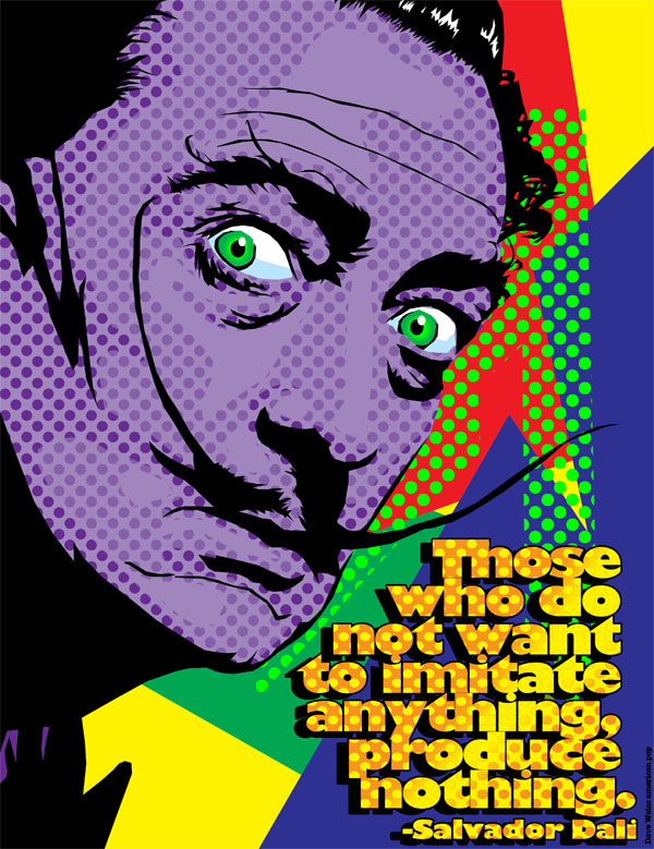 Salvador Dali on Imitation
