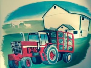 farm mural